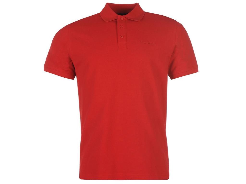 Pierre Cardin Ανδρικό Μπλουζάκι Πόλο Polo T-Shirt σε Κόκκινο χρώμα με Κόκκινες Λ ανδρική ένδυση   ανδρικές μπλούζες