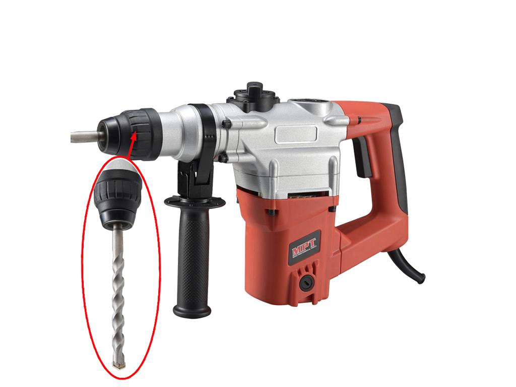 Ηλεκτρικό Κρουστικό Δράπανο 1050W 26mm με βοηθητική λαβή, MRH2603 - OEM εργαλεία για μαστορέματα   ηλεκτρικά εργαλεία