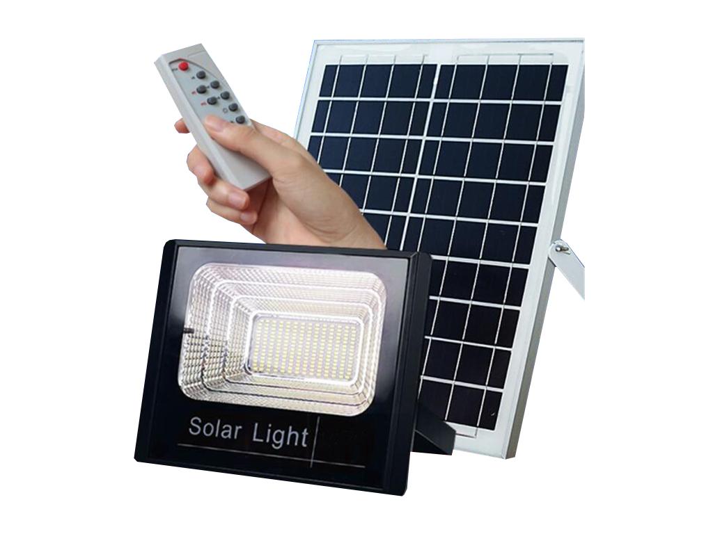 Ηλιακός Solar Προβολέας Αδιάβροχος 10W με Φωτοβολταϊκό Πάνελ, Τηλεκοντρόλ και Χρονοδιακόπτη, JD-8810 - OEM