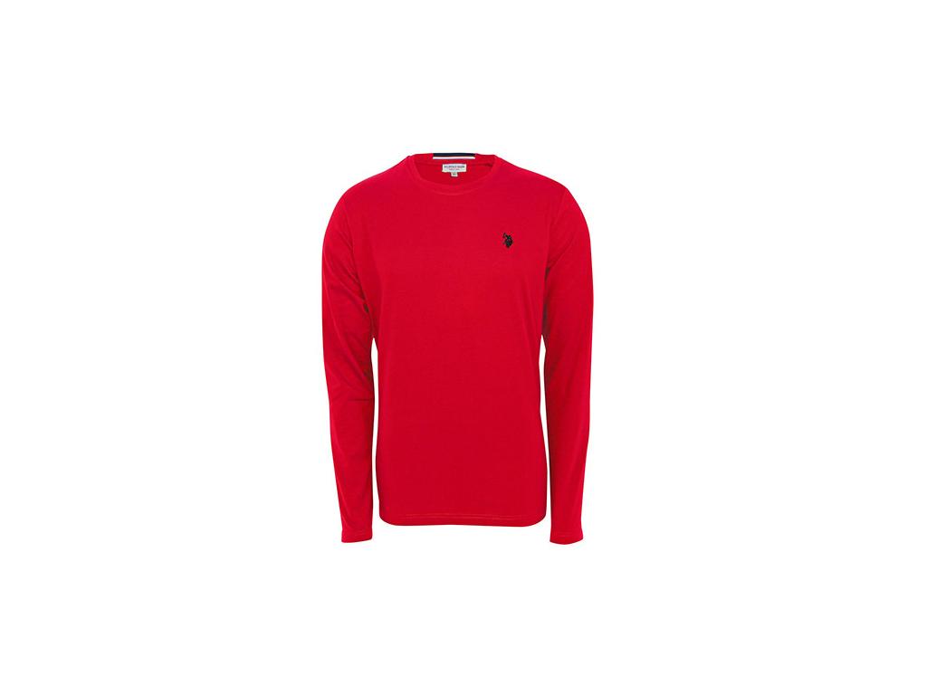 U.S. Polo Assn Ανδρική Μπλούζα T-Shirt με Μακρύ Μανίκι σε Κόκκινο χρώμα, 1001586 ανδρική ένδυση   ανδρικές μπλούζες