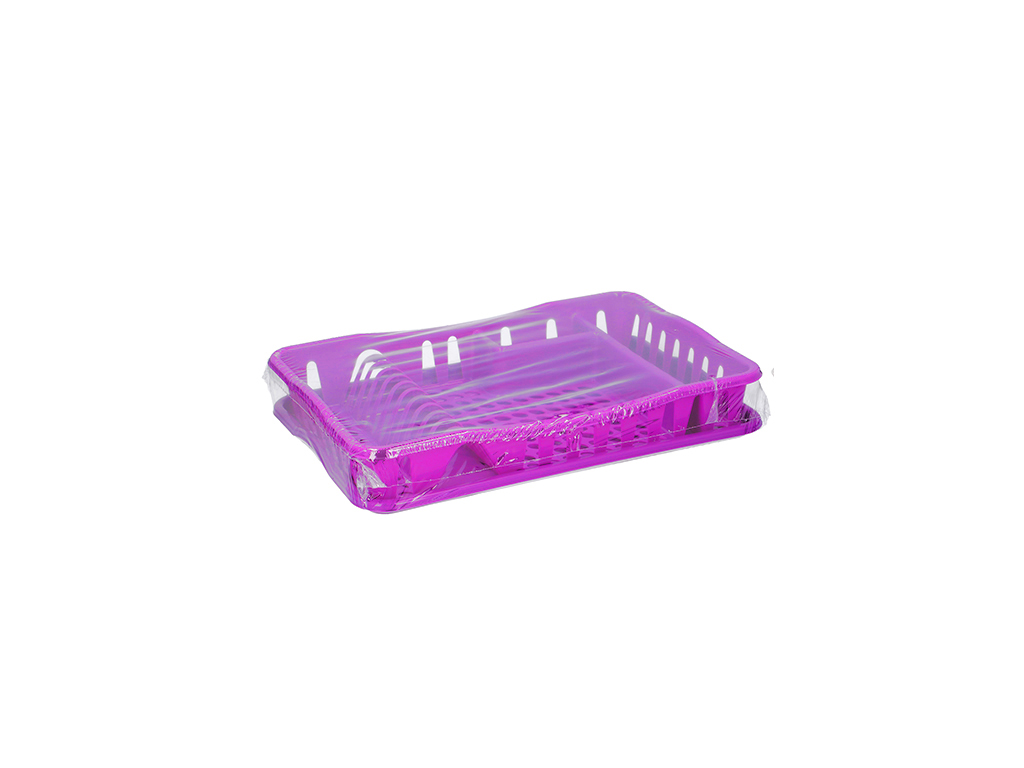 Πλαστική Πιατοθήκη Στεγνωτήριο πιάτων ποτηριών μαχαιροπίρουνων 49x33x9cm, 07369 Φούξια - Cb