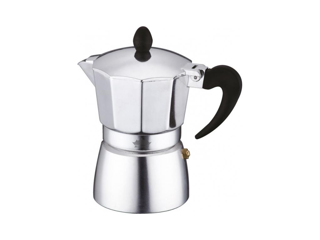 Peterhof Καφετιέρα Μπρίκι Espresso 270ml για 3 φλυτζάνια από Ανοξείδωτο ατσάλι,  ηλεκτρικές οικιακές συσκευές   καφετιέρες και είδη καφέ