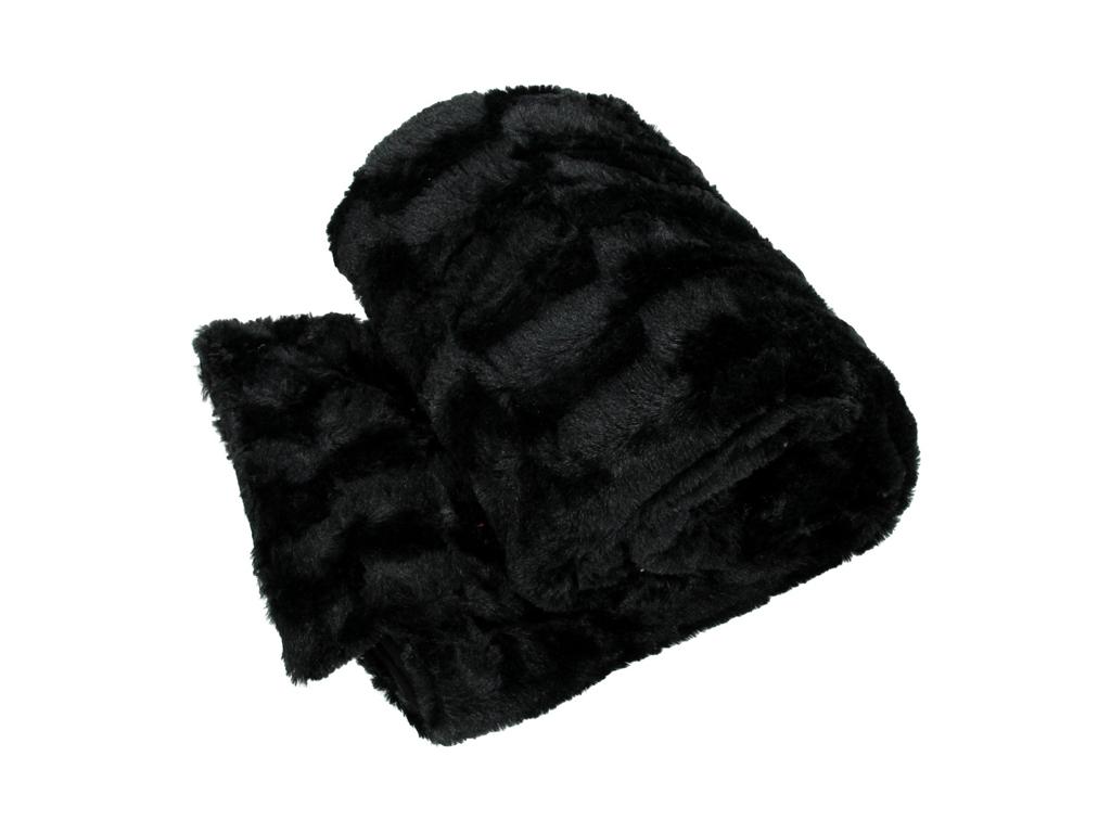 Κουβέρτα fleece καναπέ 120x150cm, 27910 Μαύρο - Cb λευκά είδη   χαλιά και κουβέρτες
