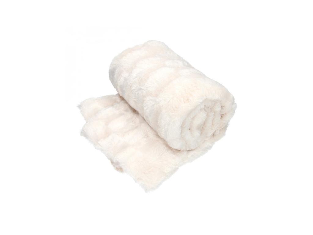 Κουβέρτα fleece καναπέ 120x150cm, 27910 Λευκό - Cb λευκά είδη   χαλιά και κουβέρτες