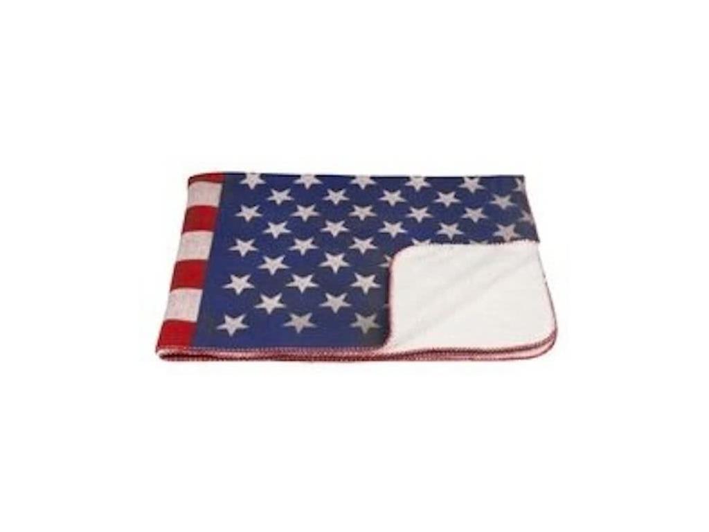 Μαλακή και Ζεστή Κουβέρτα fleece Προβατάκι 120x150cm σε Λευκό χρώμα με Θέμα Αμερ λευκά είδη   χαλιά και κουβέρτες