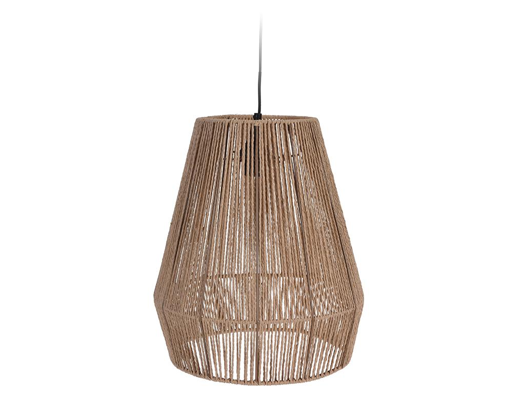 Μοντέρνο Φωτιστικό Κρεμαστό με σχοινιά 35x35x39cm σε Φυσικό Καφέ χρώμα - Cb διακόσμηση και φωτισμός   φωτιστικά