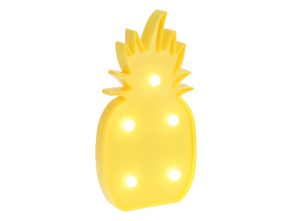 Διακοσμητικό Φωτιστικό Ανανάς με 5 LED 25cm ύψους σε Κίτρινο χρώμα - Party Light διακόσμηση και φωτισμός   led φωτισμός