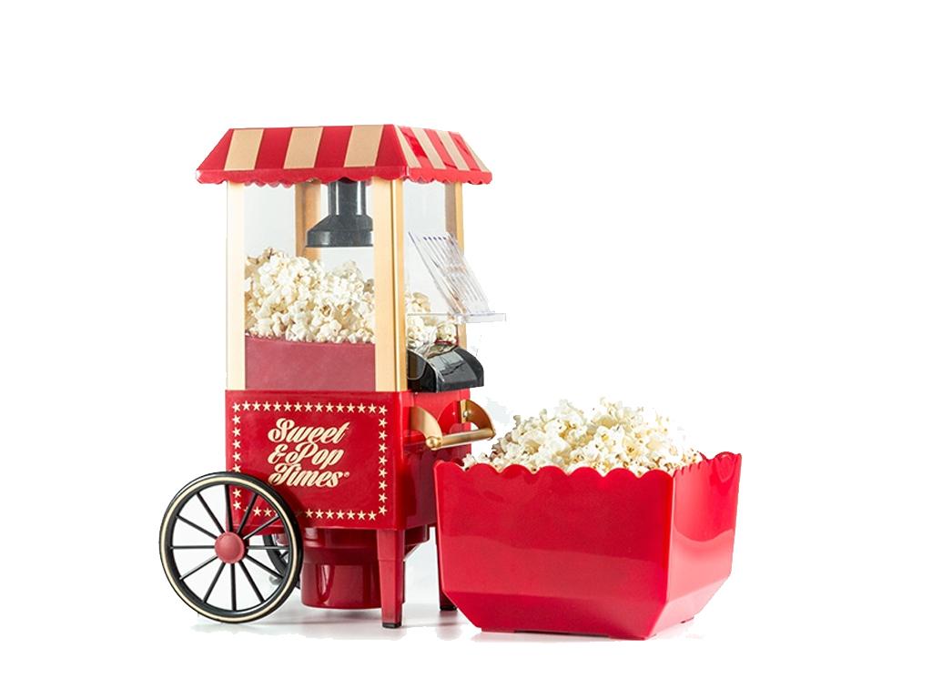 Συσκευή Παρασκευής Pop corn ποπ κορν Retro Vintage 1200W με Κύπελλο μέτρησης και ηλεκτρικές οικιακές συσκευές   παρασκευαστές ποπ κορν