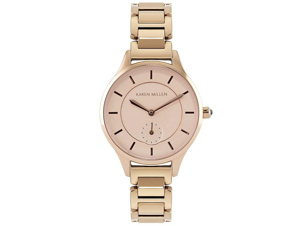 Karen Millen Αναλογικό Γυναικείο Ρολόι χειρός με Χρυσό Ροζ καντράν, Χρυσή ροζ Κά ρολόγια χειρός   γυναικεία ρολόγια χειρός