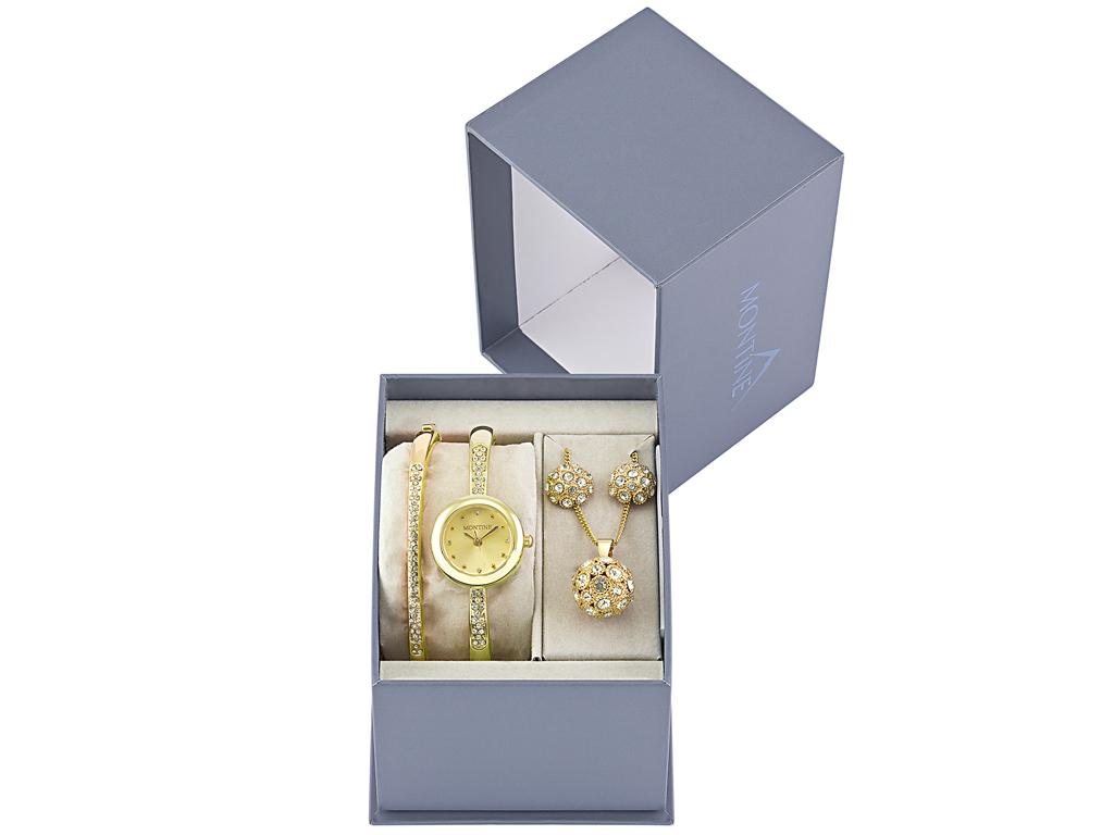 Montine MOX5792L53 Σετ συλλογή Κοσμημάτων με Γυναικείο Ρολόι και Βραχιόλι σε Χρυ γυναικεία αξεσουάρ και κοσμήματα   σετ κοσμημάτων