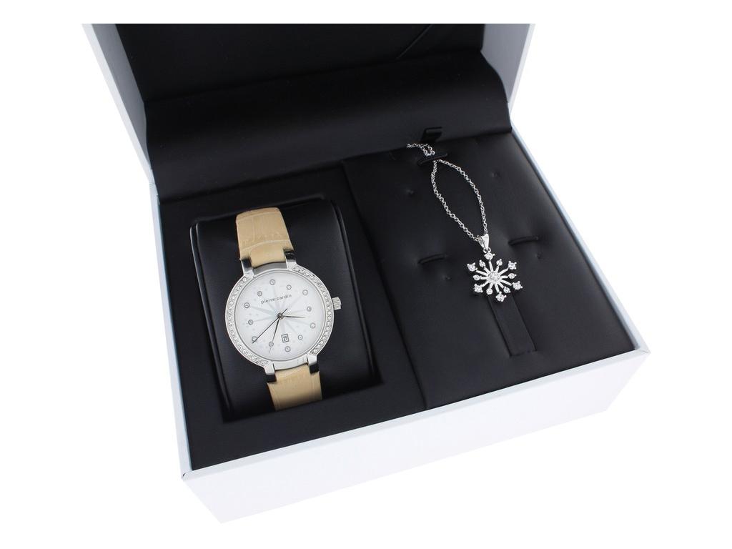 Pierre Cardin PC107922F09 Celton Beige Σετ συλλογή Κοσμημάτων με Γυναικείο Ρολόι γυναικεία αξεσουάρ και κοσμήματα   σετ κοσμημάτων