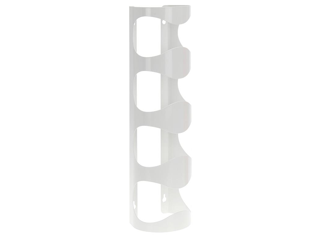 Μεταλλικό Ράφι Κάβα Κρασιών Μπουκαλοθήκη με 4 θέσεις 45x12x10cm σε Λευκό χρώμα,  κουζίνα   αξεσουάρ και έπιπλα αποθήκευσης κρασιών