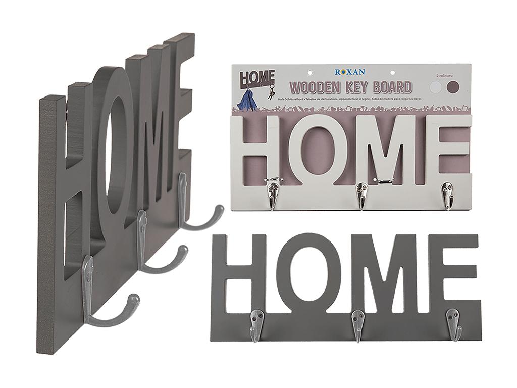 01885dc3ad11 Ξύλινη Κρεμάστρα Τοίχου  Home  29x11.5cm με 3 Άγκιστρα