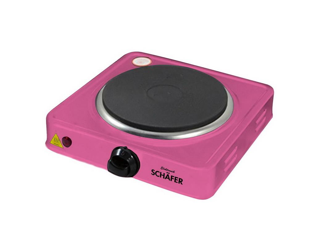 Schafer Inox Ηλεκτρική Εστία Μονή 15.5cm 1000W σε Ροζ χρώμα, 20158 - Schafer ηλεκτρικές οικιακές συσκευές   εστίες μαγειρέματος