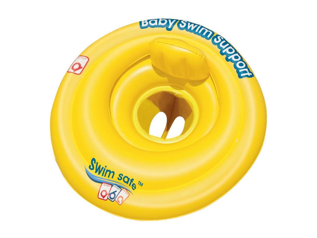 Bestway Παιδικό φουσκωτό σωσίβιο 69x69cm σε Κίτρινο χρώμα, SwimSafe ABC 32096EU - Bestway