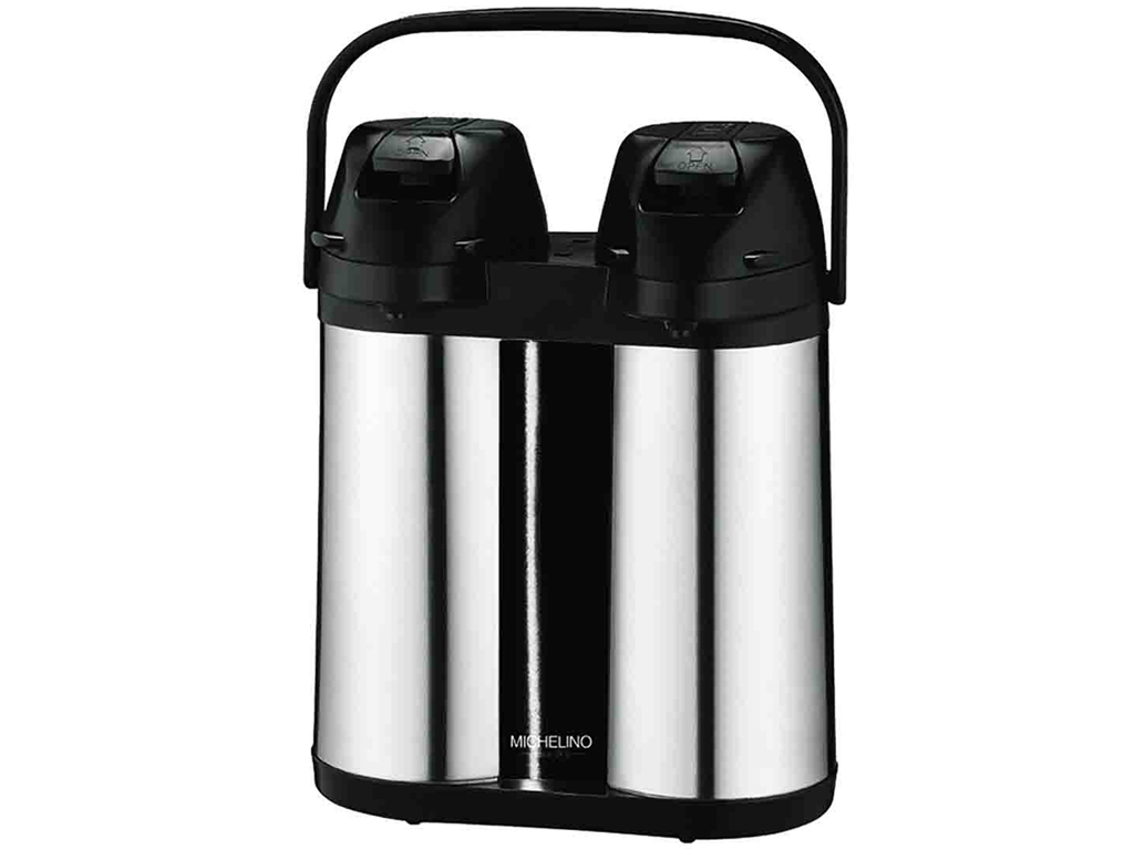 Michelino Διπλός Επαγγελματικός Θερμός Διανεμητής Ροφημάτων Καφέ ή Τσάι 2x2L από κουζίνα   θερμός και παγούρια
