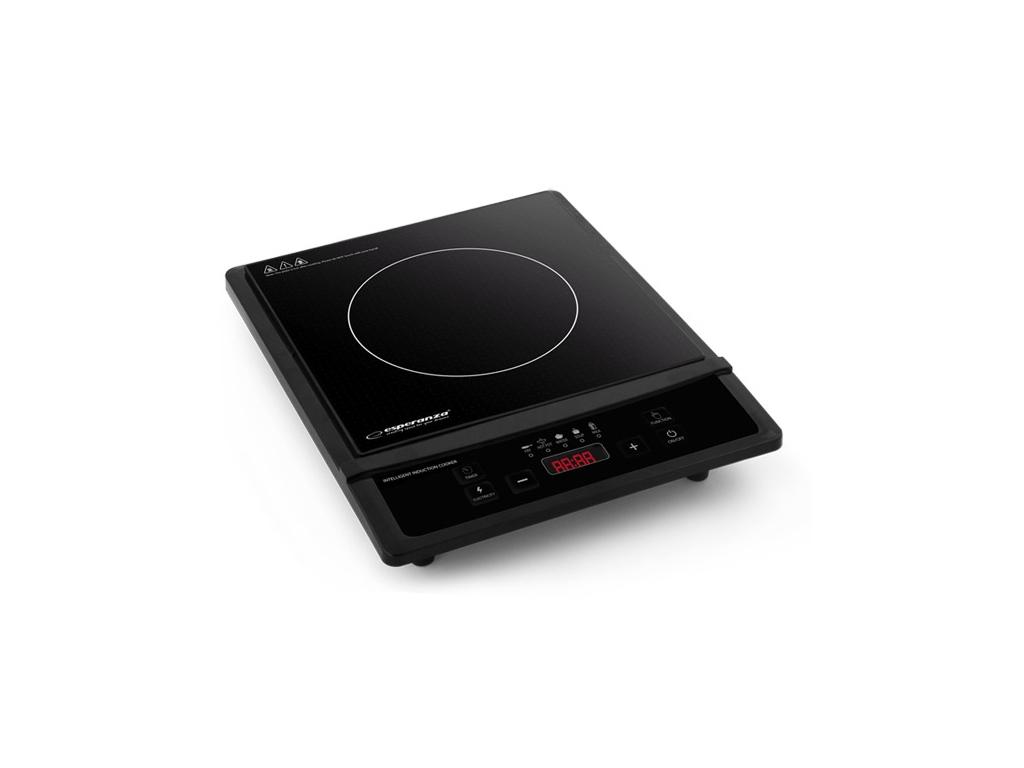 Esperanza Μονή Επαγωγική Εστία Induction Plate Kratatau 2000W με 4 λειτουργίες μ ηλεκτρικές οικιακές συσκευές   εστίες μαγειρέματος