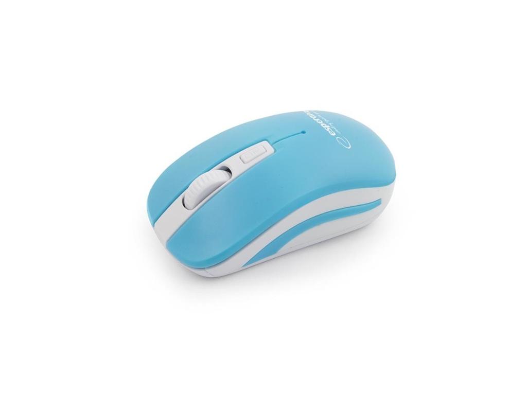 Esperanza Ασύρματο Οπτικό Ποντίκι 2.4GHz σε Λευκό-Μπλε χρώμα, EM126WB - Esperanz περιφερειακά και αναλώσιμα   ποντίκια και mouse pads