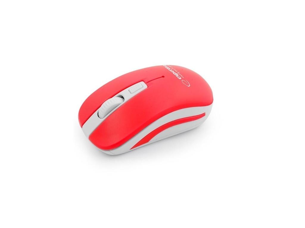 Esperanza Ασύρματο Οπτικό Ποντίκι 2.4GHz σε Λευκό-Κόκκινο χρώμα, EM126WR - Esper περιφερειακά και αναλώσιμα   ποντίκια και mouse pads