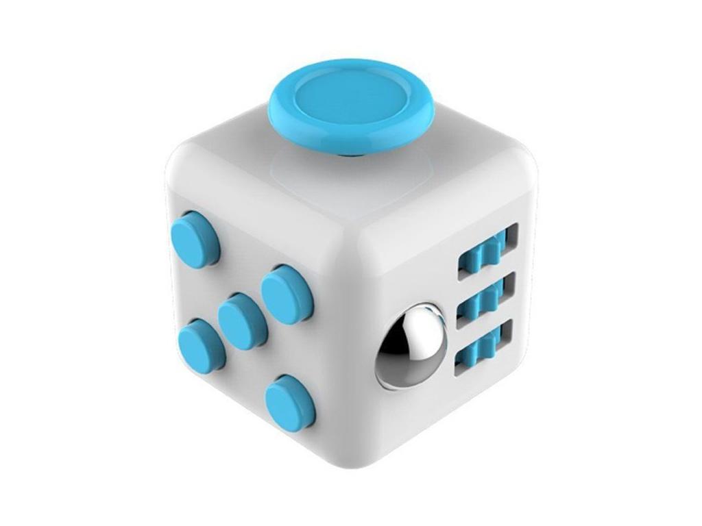 Anti Stress Fidget Cube Δημιουργικό παιχνίδι Αγχολυτικός Κύβος ABS 3x3cm σε Λευκ παιχνίδια   άλλα παιχνίδια