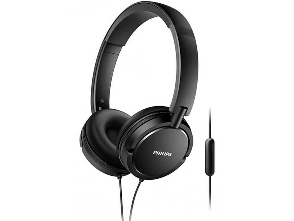 Philips Αναδιπλούμενα Στερεοφωνικά Ακουστικά 104 dB με Μικρόφωνο σε Μαύρο χρώμα, τηλεφωνία και tablets   ακουστικά με μικρόφωνο