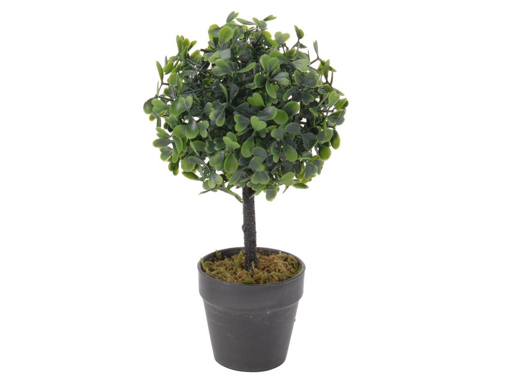 Διακοσμητικό Φυτό Δέντρο Βούξος από Πλαστικό με Γλάστρα, 22cm, 317002050 Μαύρο - διακόσμηση και φωτισμός   διακόσμηση τραπεζίου και ανθοδοχεία