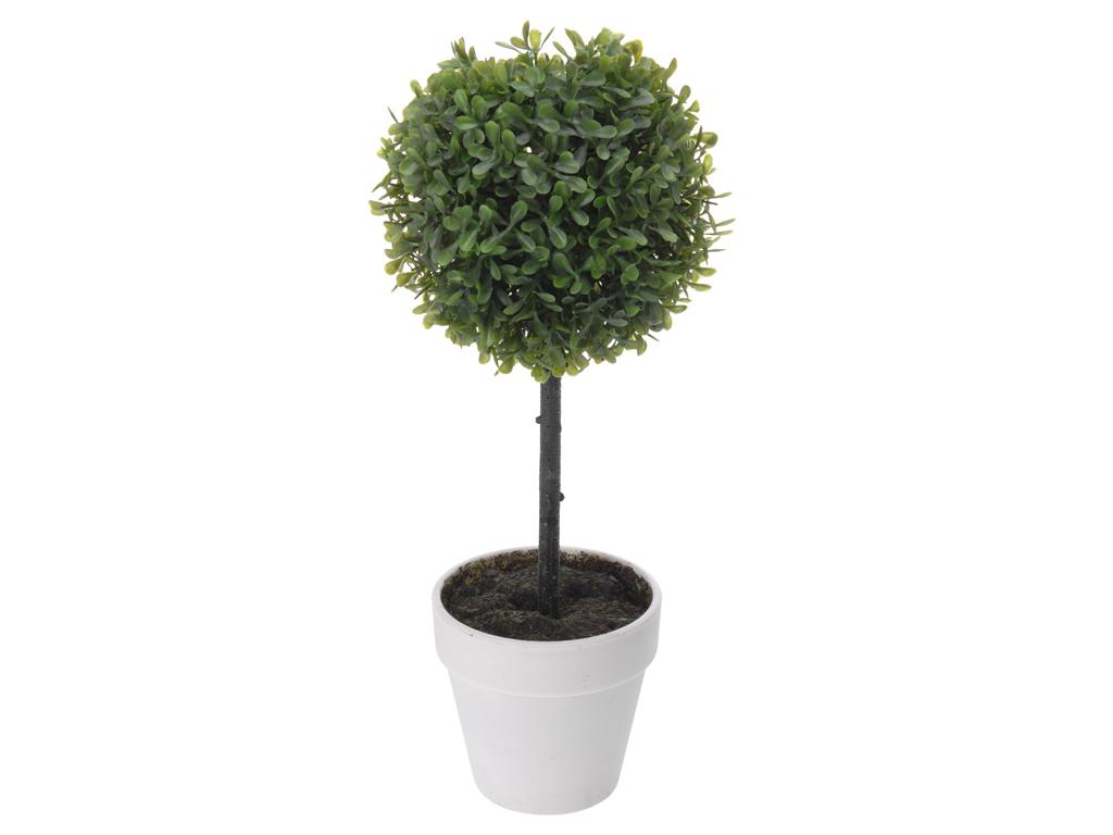 Διακοσμητικό Φυτό Δέντρο Βούξος από Πλαστικό με Γλάστρα, 40x15cm, 317002160 Λευκ διακόσμηση και φωτισμός   διακόσμηση τραπεζίου και ανθοδοχεία
