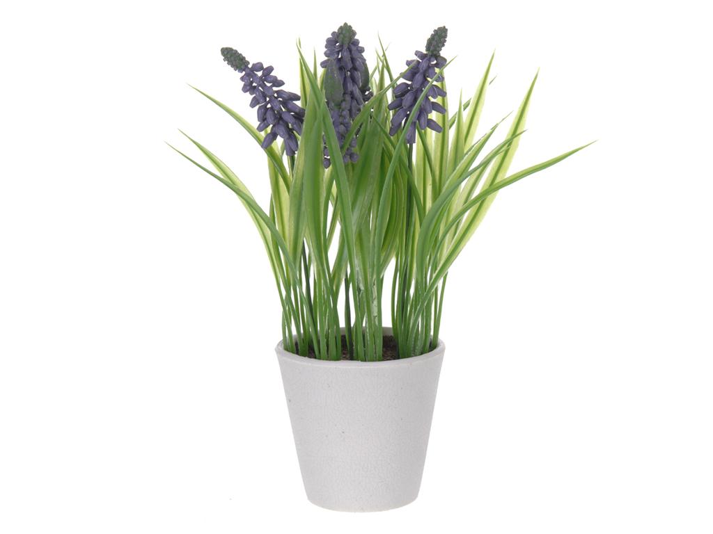 Διακοσμητικό Φυτό Λεβάντα από Πλαστικό με Γλάστρα σε Λευκό χρώμα, 22cm, 31700225 διακόσμηση και φωτισμός   διακόσμηση τραπεζίου και ανθοδοχεία