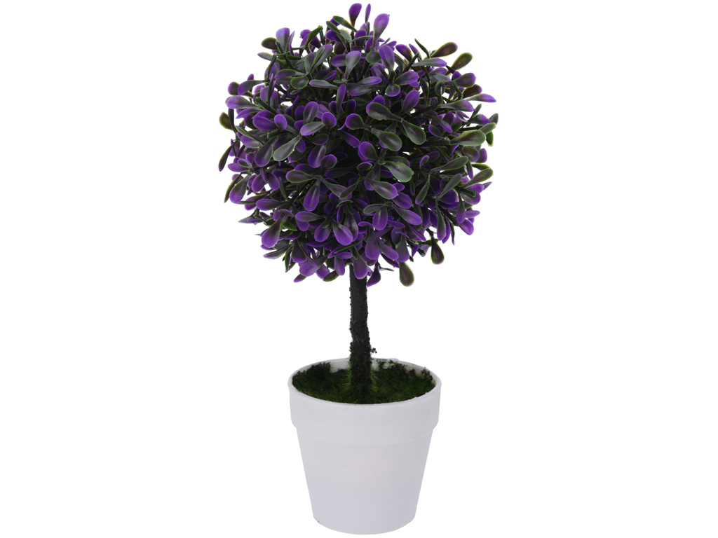 Διακοσμητικό Φυτό Βούξος από Πλαστικό με Γλάστρα σε Λευκό χρώμα, 23CM, 317002510 διακόσμηση και φωτισμός   διακόσμηση τραπεζίου και ανθοδοχεία