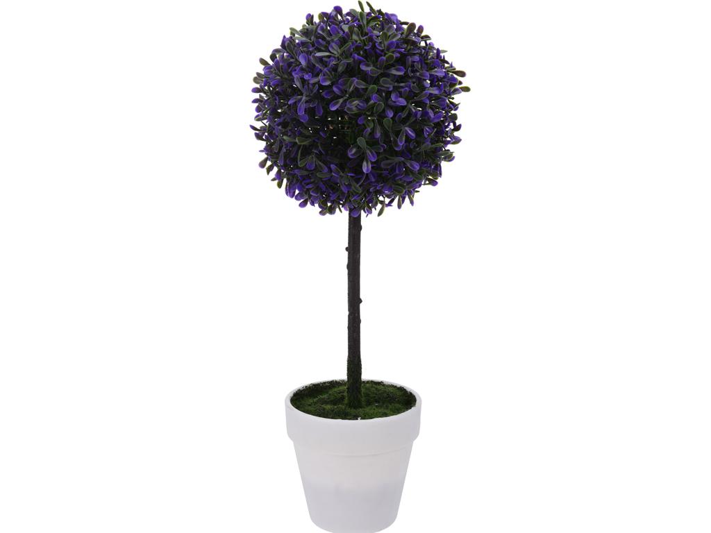 Διακοσμητικό Φυτό Δέντρο Βούξος από Πλαστικό με Γλάστρα σε Λευκό χρώμα, 45cm, 31 διακόσμηση και φωτισμός   διακόσμηση τραπεζίου και ανθοδοχεία