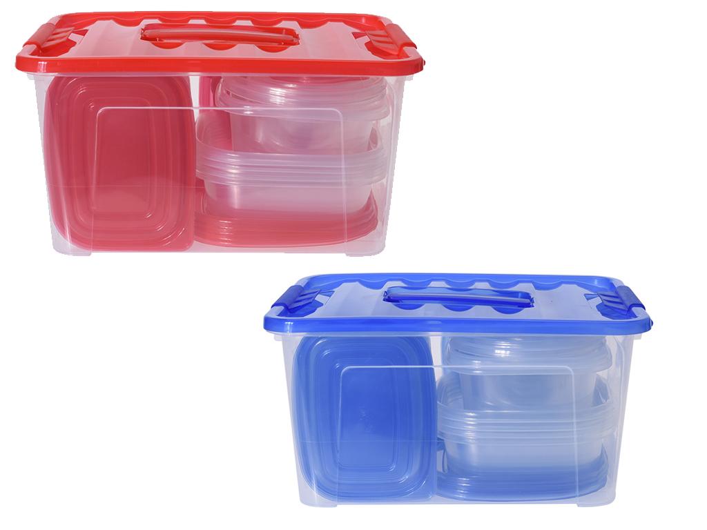 Σετ Τάπερ 27 τεμαχίων Δοχεία φαγητού σε 8 μεγέθη από Πλαστικό Κατάλληλο για Φούρ κουζίνα   τάπερ και μπολ αποθήκευσης τροφών