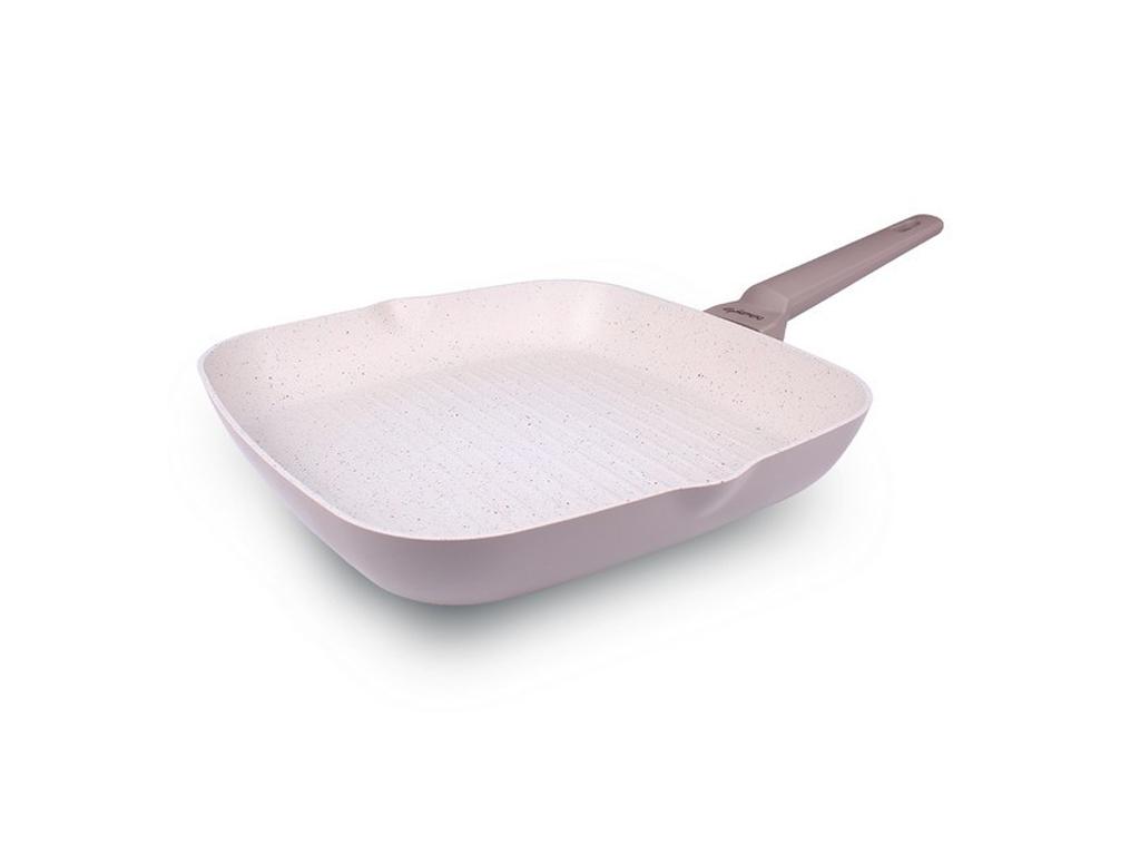 Αντικολλητικό Τηγάνι Γκριλ, Grill, 28cm με Μαρμάρινη επίστρωση, κατάλληλο για όλες τις μαγειρικές εστίες και για το πλυντήριο πιάτων, Norsk Series, Luigi Ferrero, FR-5728M - Luigi Ferrero