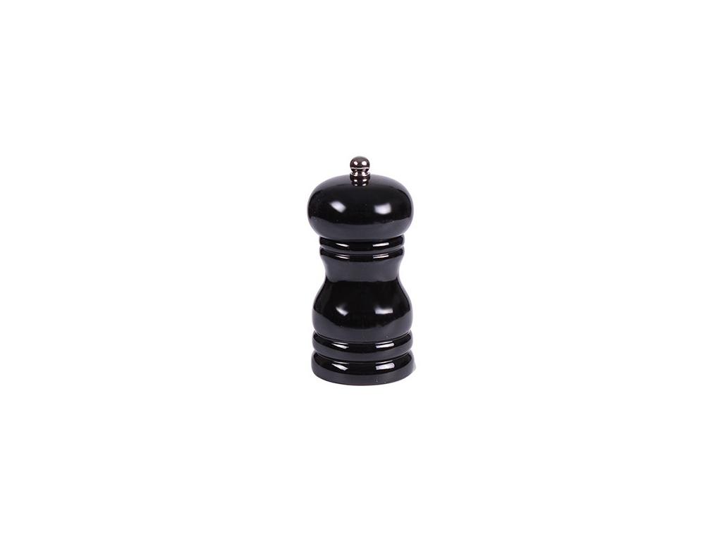 Ξύλινος Μύλος μπαχαρικών κατάλληλος για πιπέρι και αλάτι σε Μαύρο χρώμα, 11 cm, EKO 650078 - EKO