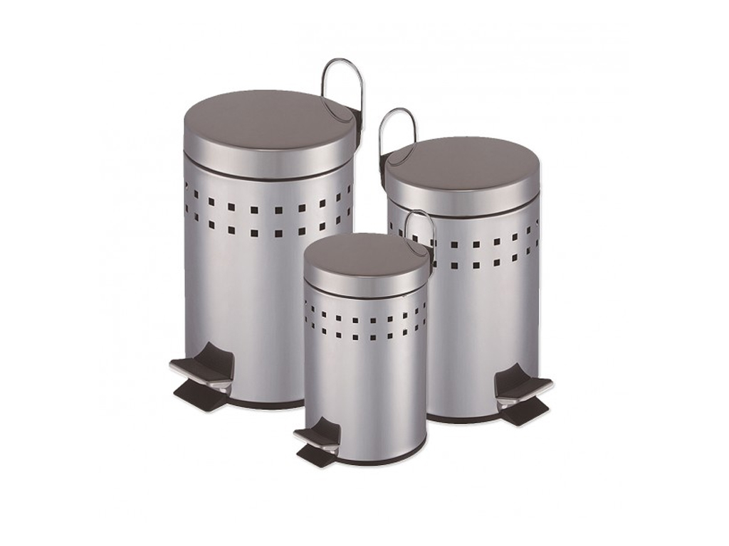 Σετ κάδοι απορρυμάτων από Ανοξείδωτο Ατσάλι αποτελούμενο απο κάδο 30 λίτρων, 5 λ κουζίνα   κάδοι απορριμμάτων κουζίνας