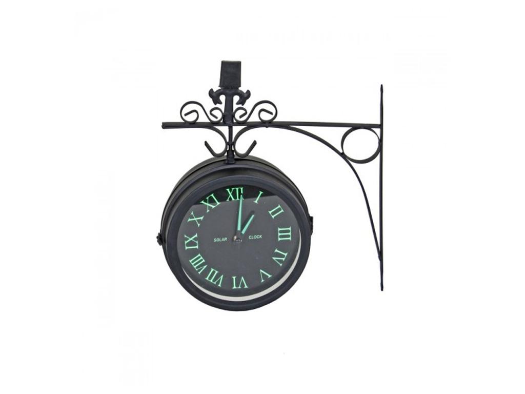 Διακοσμητικό Ρολόι Τοίχου Διπλής Όψεως Μεταλλικό Σταθμού διαστάσεων 32x37x11cm,  διακόσμηση και φωτισμός   ρολόγια τοίχου  επιτραπέζια και επιδαπέδια ρολόγια