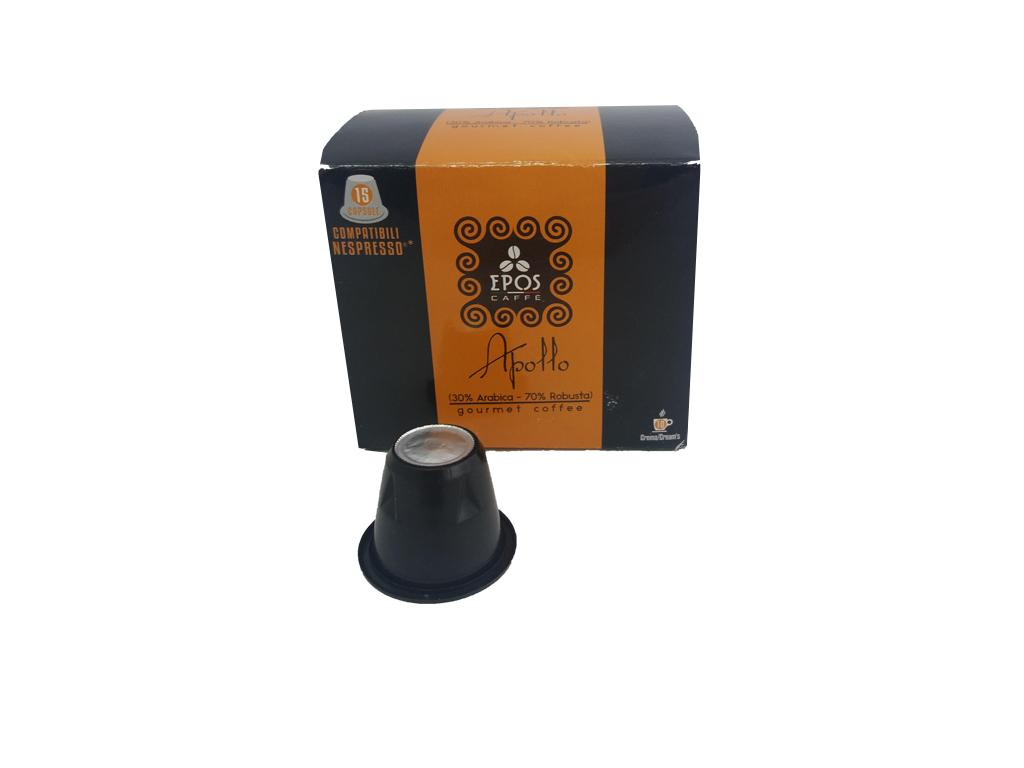 Κάψουλες Epos Caffe Espresso Apollo 15 τεμαχίων 30% Arabica, 70% Robusta - Epos  ηλεκτρικές οικιακές συσκευές   καφετιέρες και είδη καφέ