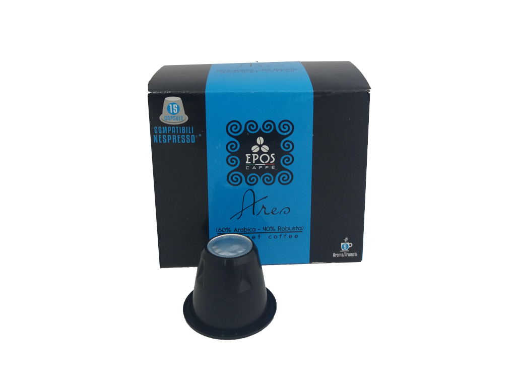 Κάψουλες Epos Caffe Espresso Ares 15 τεμαχίων 60% Arabica, 40% Robusta - Epos Ca ηλεκτρικές οικιακές συσκευές   καφετιέρες και είδη καφέ