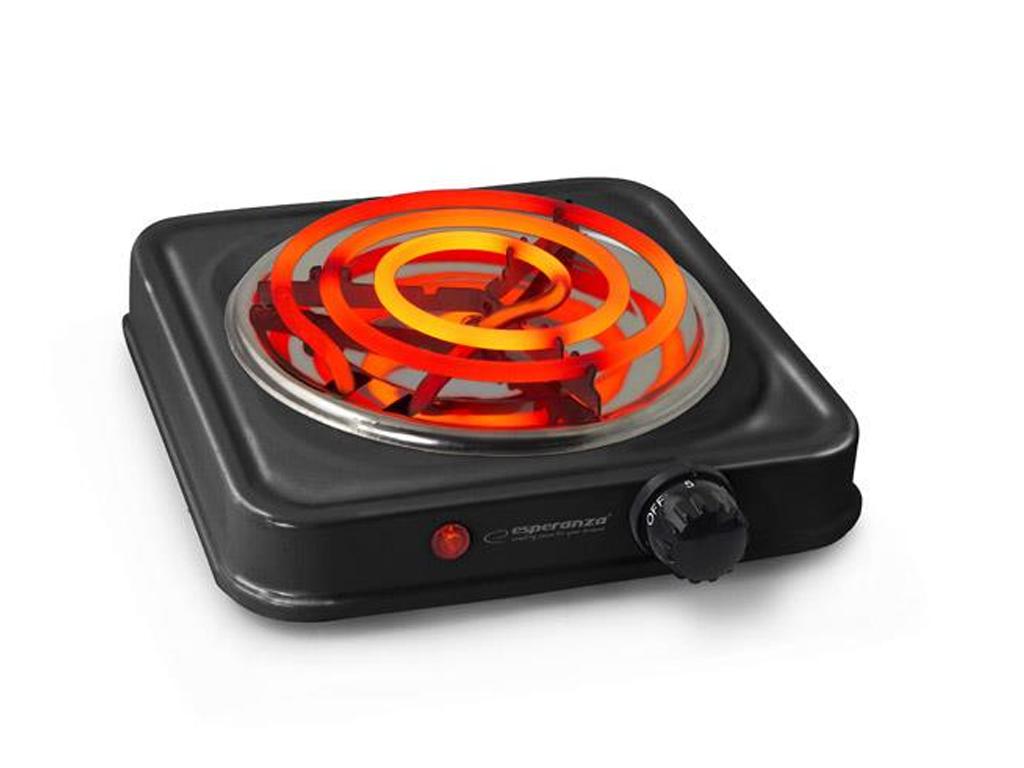 Μονή Ηλεκτρική Εστία 1000W με ένδειξη θερμότητας σε Μαύρο Χρώμα, Esperanza EKH00 horeca   επαγγελματικά   είδη και εξοπλισμός εστιατορίων και εστίασης