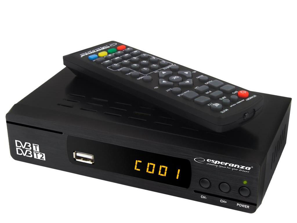 Δορυφορικός Αποκωδικοποιητής Τηλεόρασης DVB-T/T2 για FULL HD Ανάλυση και Θύρες H ηλεκτρονικά   αξεσουάρ τηλεοράσεων
