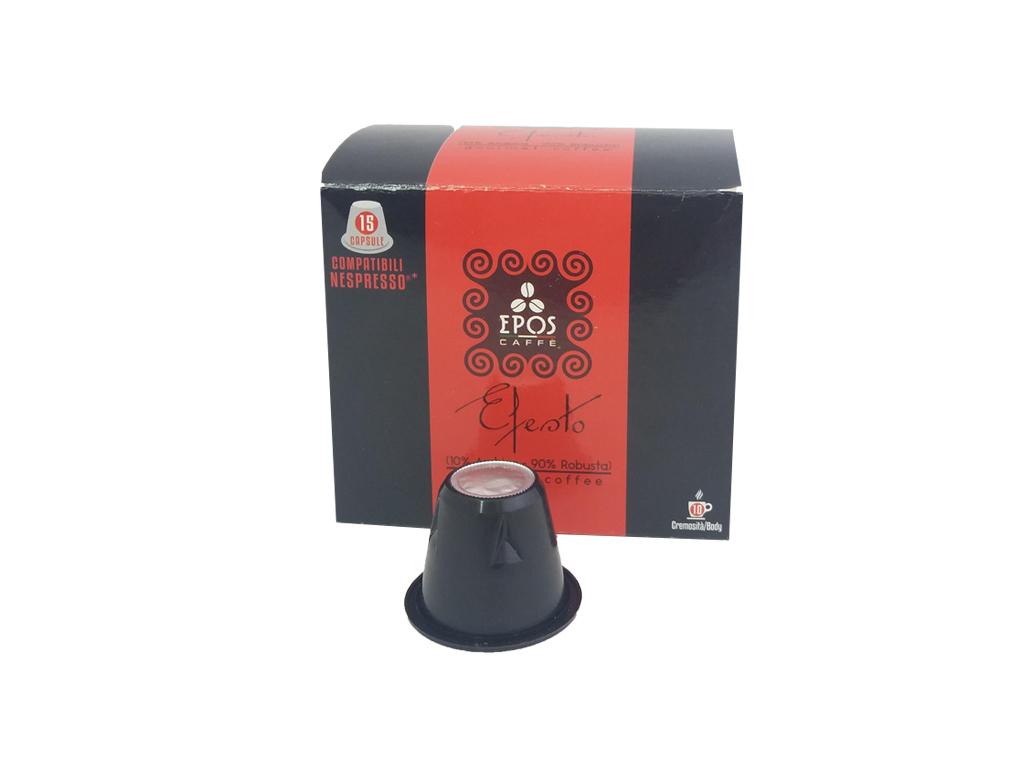 Κάψουλες Epos Caffe Espresso Efesto 15 τεμαχίων 10% Arabica, 90% Robusta - Epos  ηλεκτρικές οικιακές συσκευές   καφετιέρες και είδη καφέ