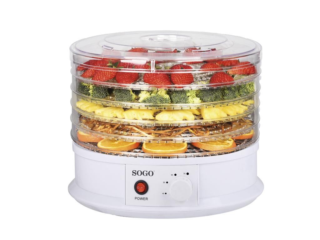 Αποξηραντής Τροφίμων,Φρούτων και Λαχανικών 250W με 5 ράφια σε Λευκό Χρώμα, 34x34 ηλεκτρικές οικιακές συσκευές   αποξηραντές τροφίμων