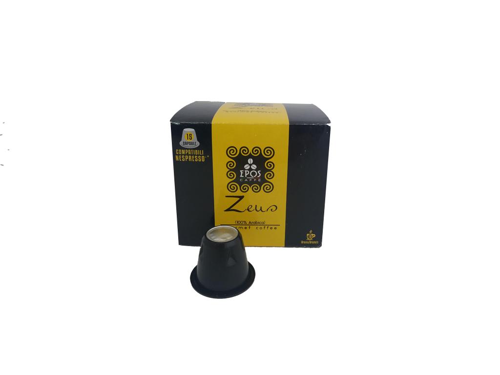 Κάψουλες Epos Caffe Espresso Zeus 15 τεμαχίων 100% Arabica - Epos Caffe ηλεκτρικές οικιακές συσκευές   καφετιέρες και είδη καφέ