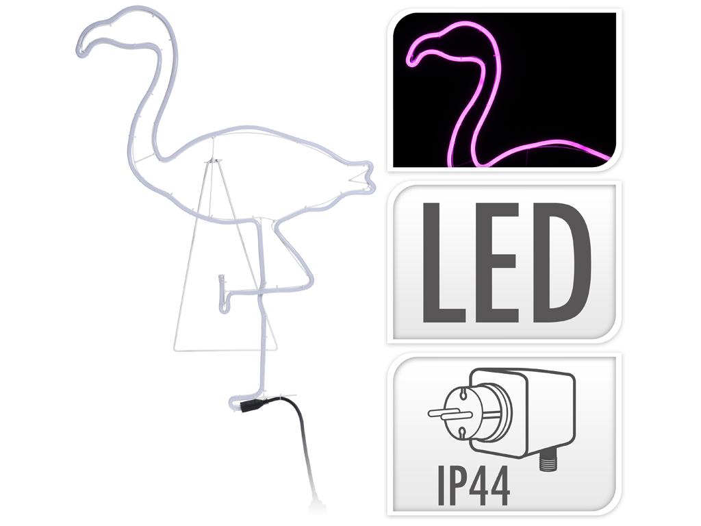 Flamingo Φλαμίνγκο Διακοσμητικό Φωτιστικό Τοίχου με ροζ LED Εσωτερικού και Εξωτε διακόσμηση και φωτισμός   led φωτισμός