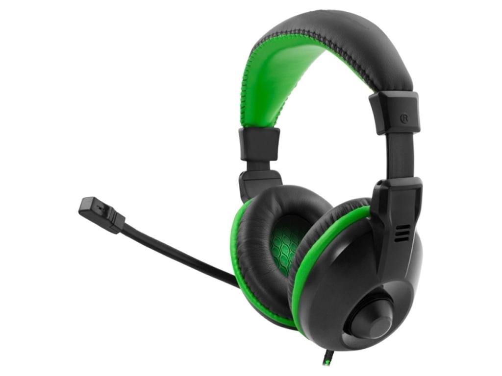 Ακουστικά με Μικρόφωνο για Ατελείωτες ώρες gaming σε Μαύρο χρώμα με Πράσινες λεπ παιχνίδια   παιχνιδοκονσόλες και αξεσουάρ gaming