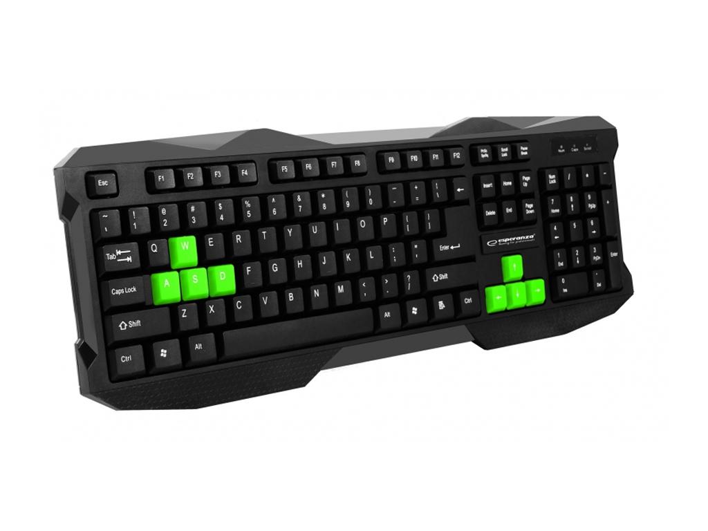 Ενσύρματο Gaming Πληκτολόγιο σε Μαύρο χρώμα με Πράσινες λεπτομέρειες για Windows παιχνίδια   παιχνιδοκονσόλες και αξεσουάρ gaming