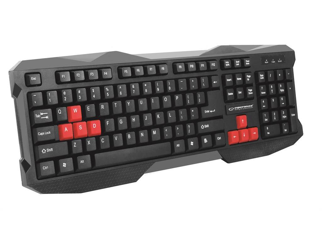 Ενσύρματο Gaming Πληκτολόγιο σε μαύρο με κόκκινες λεπτομέρειες για Windows 7 / 8 παιχνίδια   παιχνιδοκονσόλες και αξεσουάρ gaming