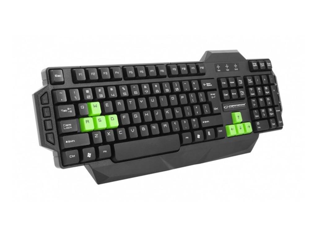 Ενσύρματο Gaming Πληκτολόγιο σε μαύρο με πράσινες λεπτομέρειες για τα Windows 7  παιχνίδια   παιχνιδοκονσόλες και αξεσουάρ gaming