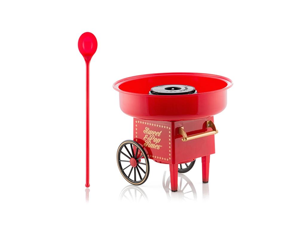Συσκευή για Μαλλί της Γριάς 500W σε Κόκκκινο Χρώμα, Candy Maker InovaGoods V0100 ηλεκτρικές οικιακές συσκευές   παρασκευαστές για μαλλί της γριάς