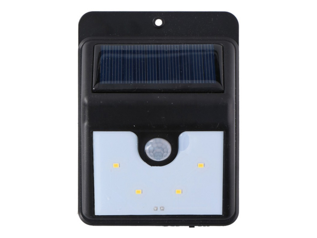 Ηλιακός Νυχτερινός Προβολέας με Αισθητήρα Κίνησης με 4 LED σε Μαύρο Χρώμα , 8.6  διακόσμηση και φωτισμός   ηλιακός φωτισμός