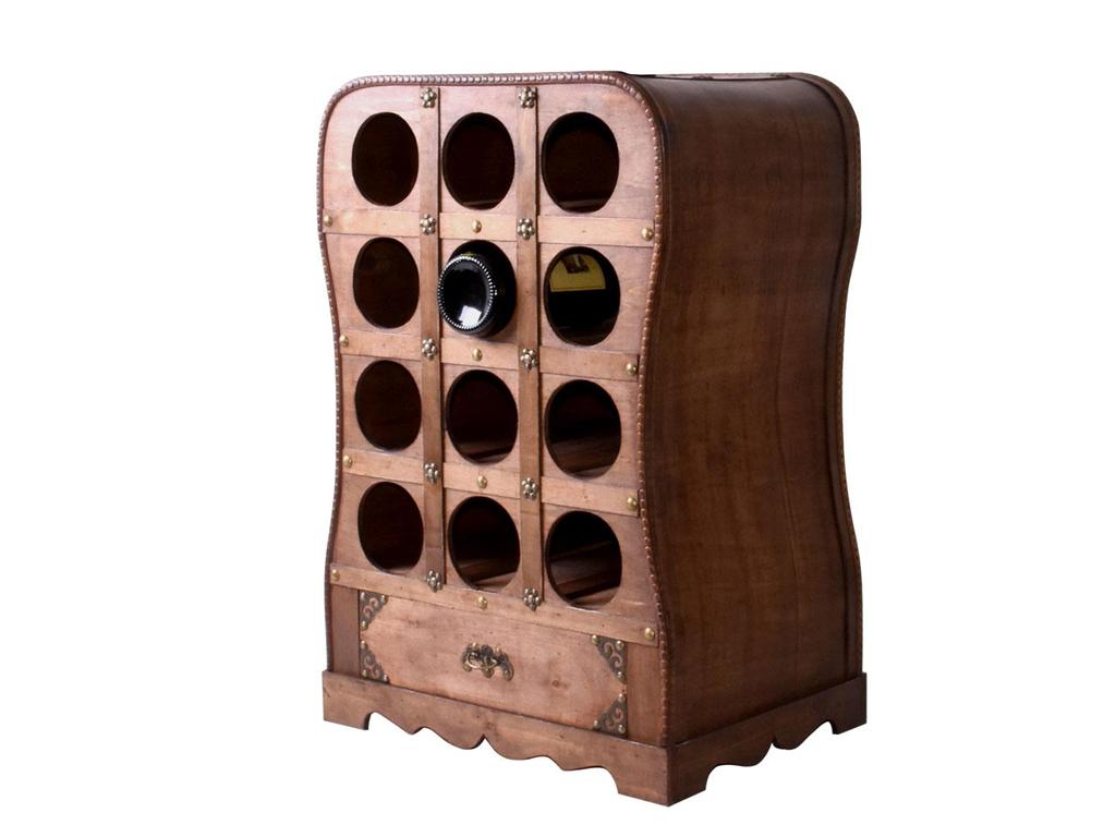 Κάβα Κρασιών, Μπουκαλοθήκη Ξύλινο Έπιπλο 12 θέσεων σε vintage αναπαλαιωμένο σχέδ κουζίνα   αξεσουάρ και έπιπλα αποθήκευσης κρασιών